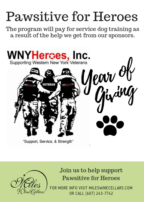 Miles Wine Cellars Spotlights Pawsitive For Heroes