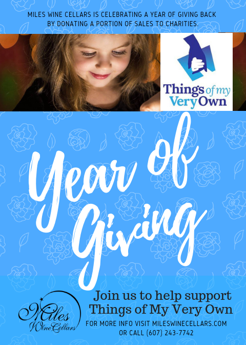 Things of my very own part of Year of Giving campaign by Miles Wine Cellars in the Finger Lakes.
